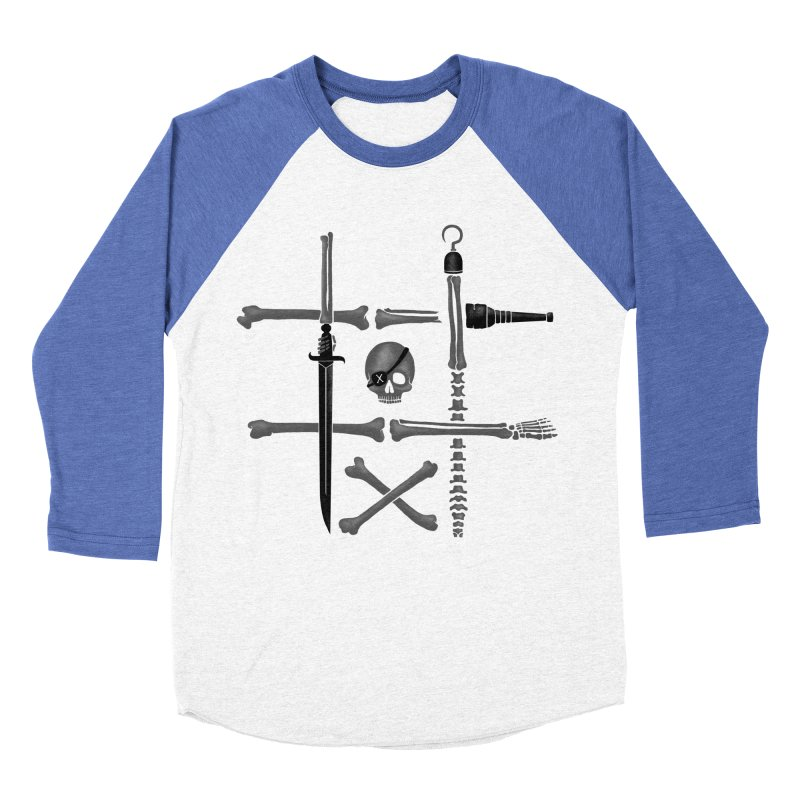 Noughts and Crossbones Men's Baseball Triblend T-Shirt by Charity Ryan