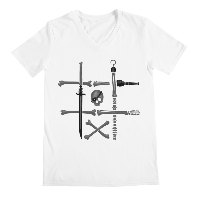 Noughts and Crossbones Men's V-Neck by Charity Ryan