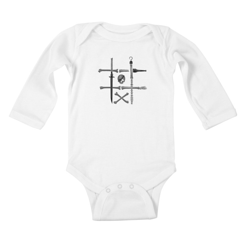 Noughts and Crossbones Kids Baby Longsleeve Bodysuit by Charity Ryan
