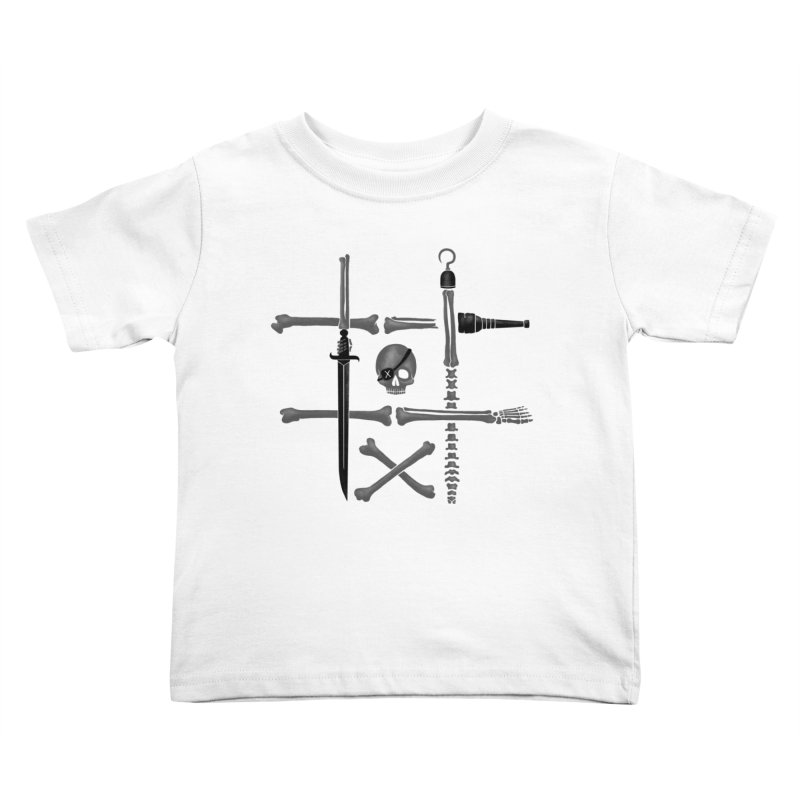 Noughts and Crossbones Kids Toddler T-Shirt by Charity Ryan