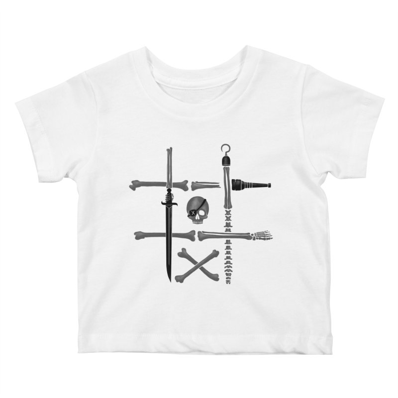 Noughts and Crossbones Kids Baby T-Shirt by Charity Ryan