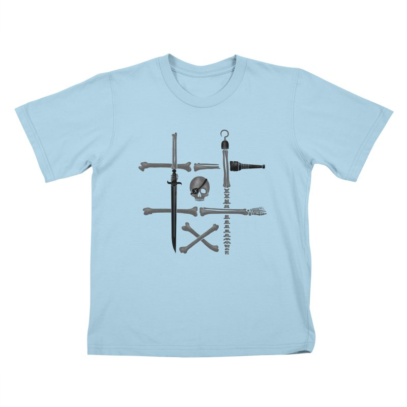 Noughts and Crossbones Kids T-shirt by Charity Ryan