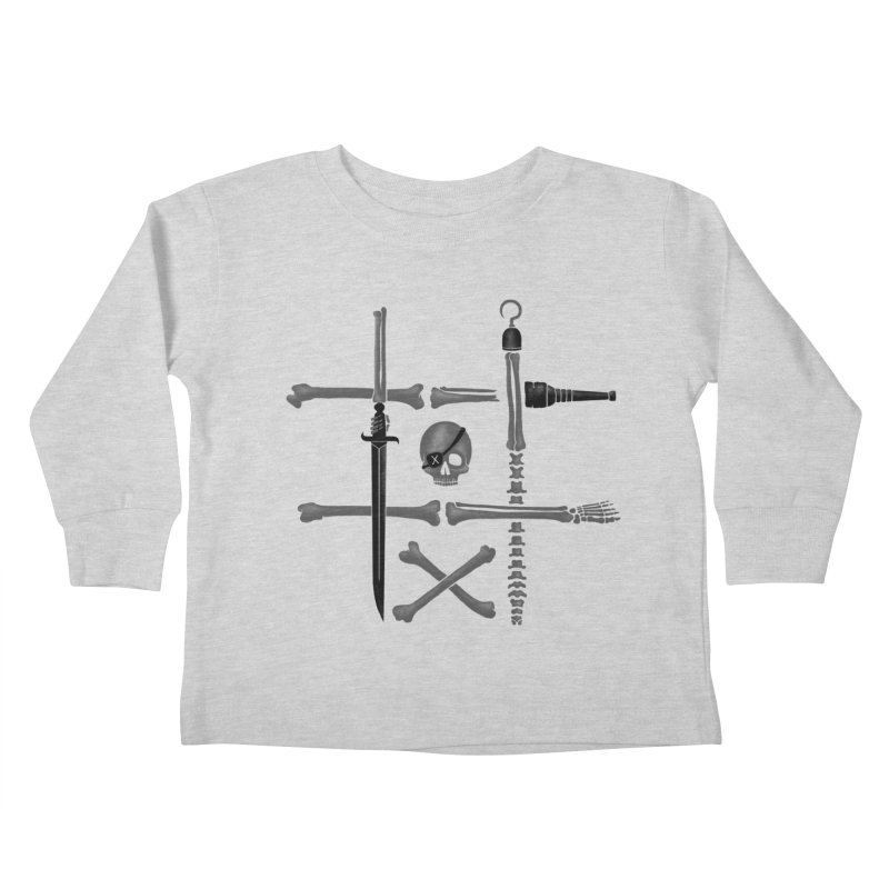 Noughts and Crossbones Kids Toddler Longsleeve T-Shirt by Charity Ryan