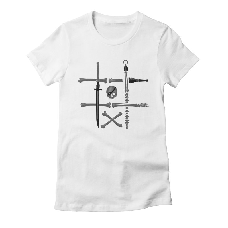Noughts and Crossbones Women's Fitted T-Shirt by Charity Ryan