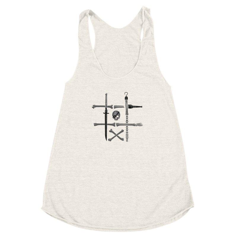Noughts and Crossbones Women's Racerback Triblend Tank by Charity Ryan
