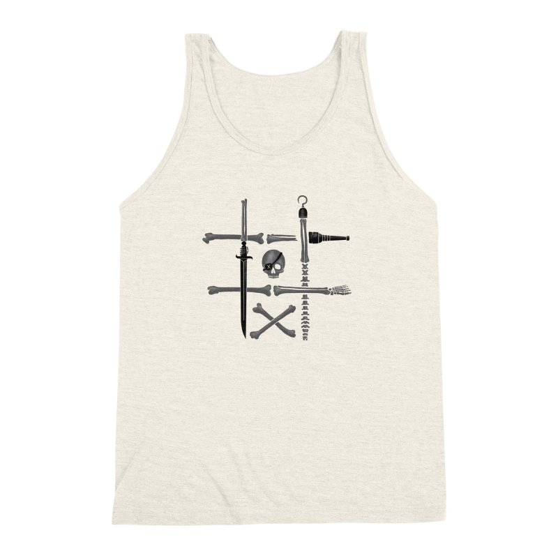 Noughts and Crossbones Men's Triblend Tank by Charity Ryan