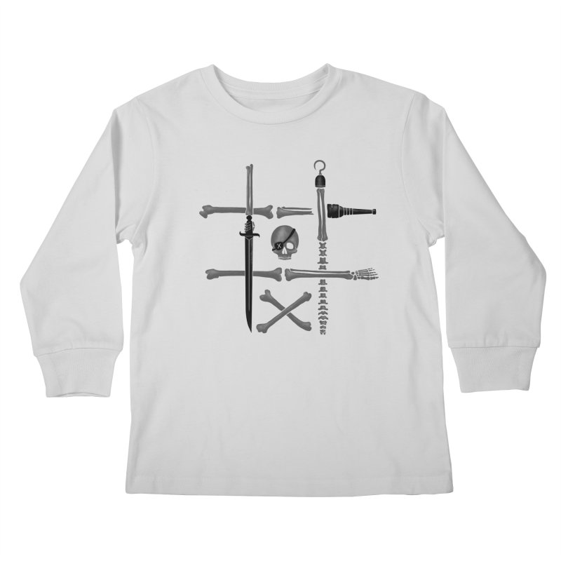 Noughts and Crossbones Kids Longsleeve T-Shirt by Charity Ryan