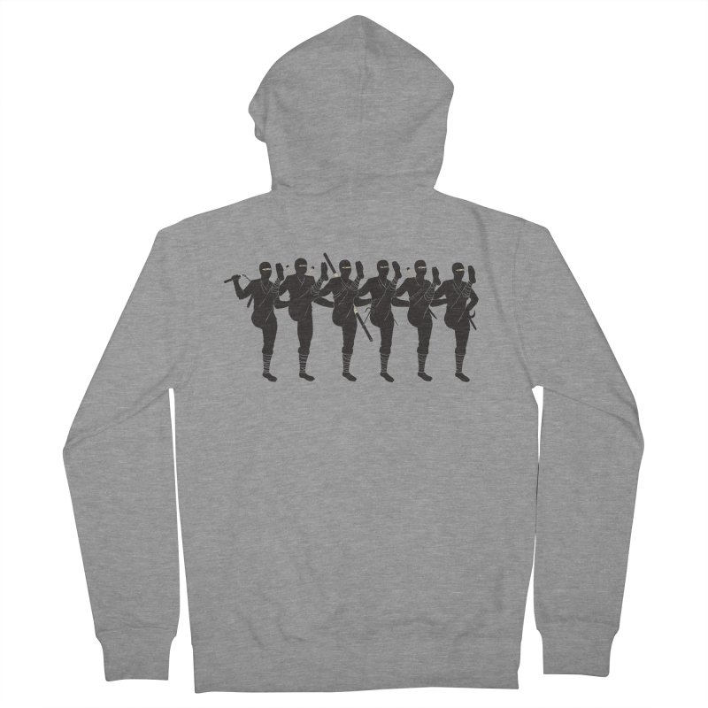 Ninja Kickline Men's Zip-Up Hoody by Charity Ryan