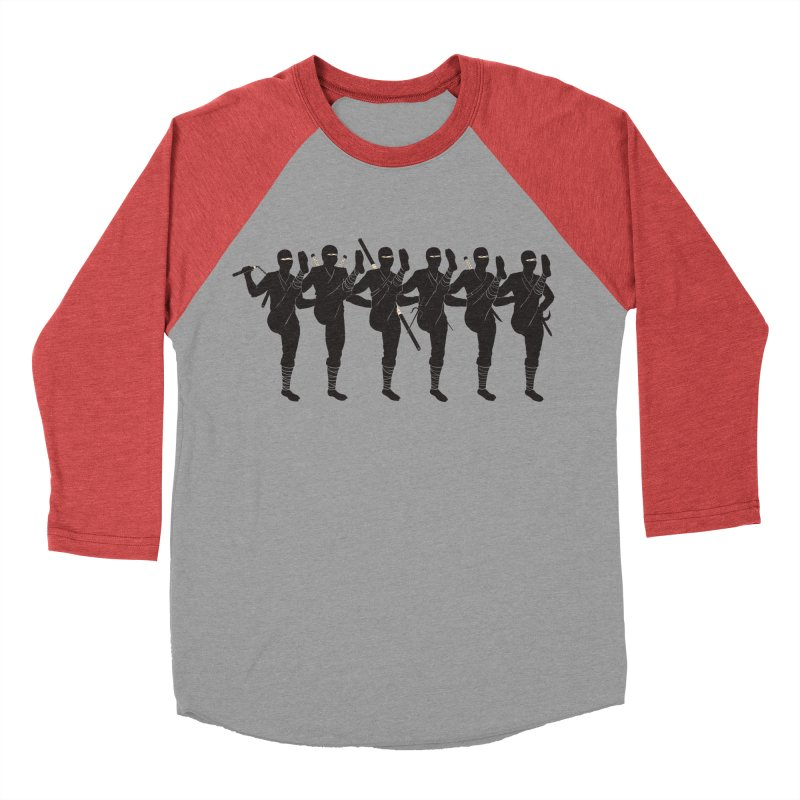 Ninja Kickline Men's Baseball Triblend T-Shirt by Charity Ryan