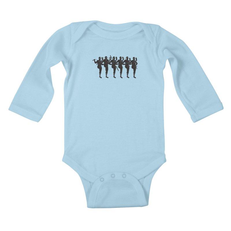 Ninja Kickline Kids Baby Longsleeve Bodysuit by Charity Ryan