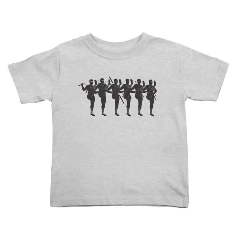 Ninja Kickline Kids Toddler T-Shirt by Charity Ryan