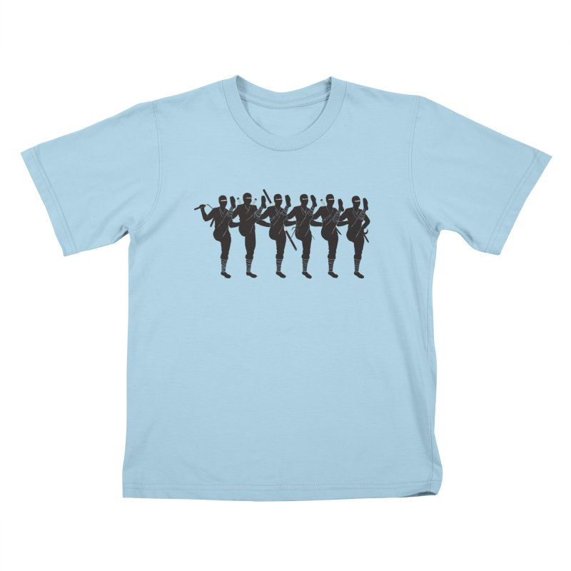 Ninja Kickline Kids T-Shirt by Charity Ryan