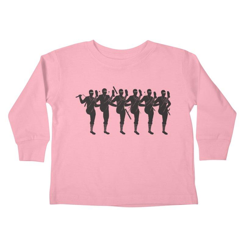 Ninja Kickline Kids Toddler Longsleeve T-Shirt by Charity Ryan