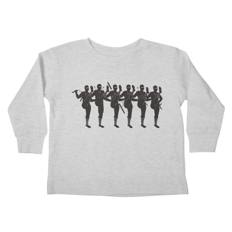 Ninja Kickline Kids Toddler Longsleeve T-Shirt by Charity Ryan