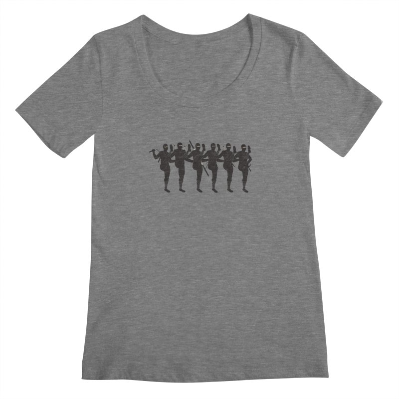 Ninja Kickline Women's Scoopneck by Charity Ryan