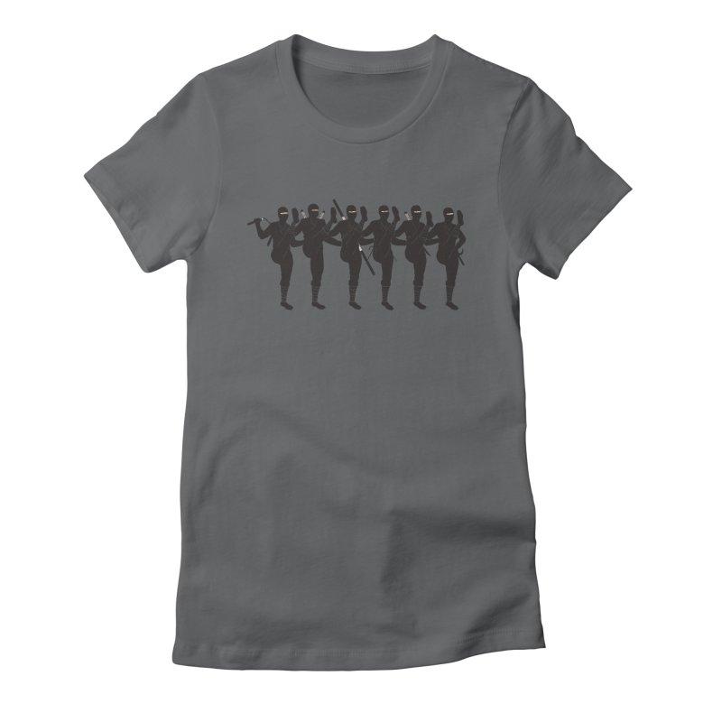Ninja Kickline Women's Fitted T-Shirt by Charity Ryan
