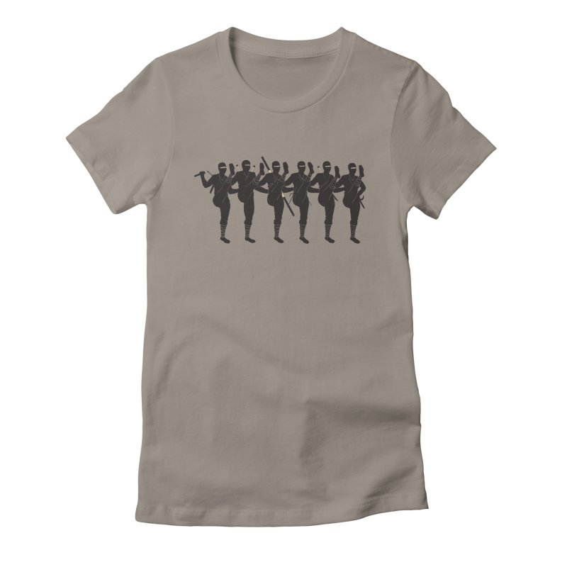 Ninja Kickline Women's Fitted T-Shirt by Charity Ryan