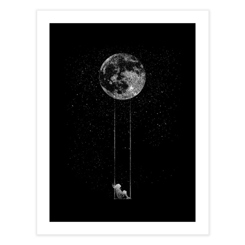 Swing for the Stars Home Fine Art Print by ChaseVernonDesigns