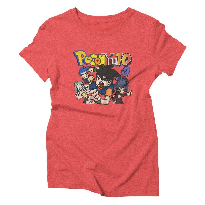 PoGonYuTistic Action! Women's Triblend T-Shirt by CHASTUDIOS SHOP