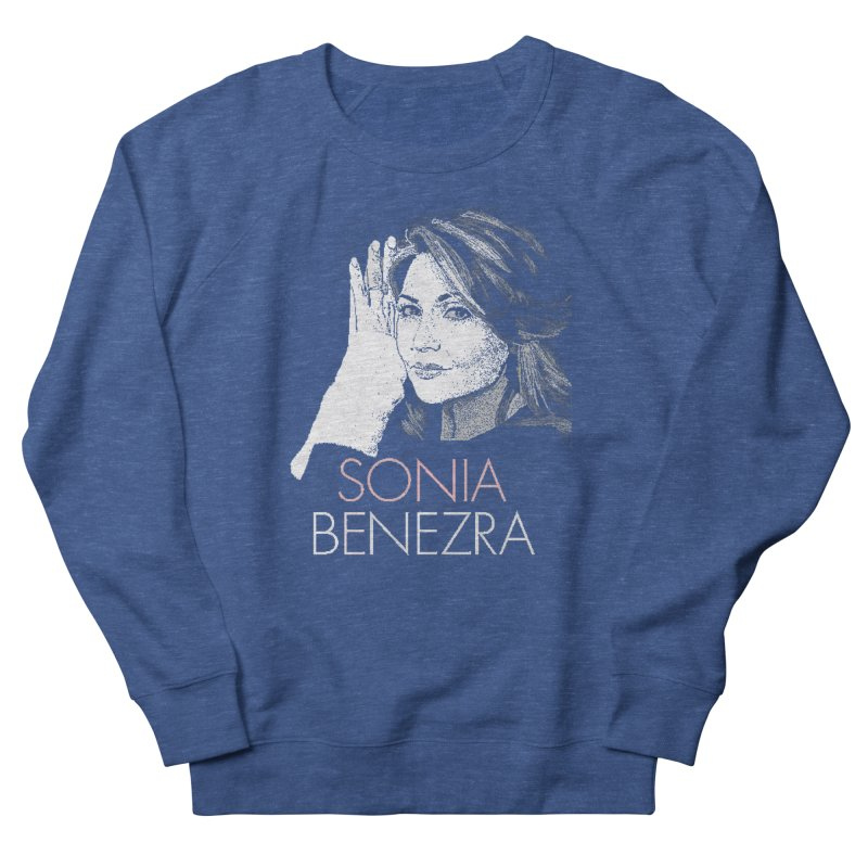Sonia Benezra Love in Women's French Terry Sweatshirt Heather Royal by Chaudaille