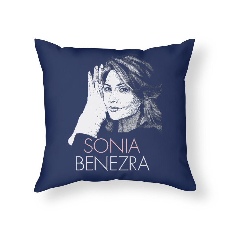 Sonia Benezra Love in Throw Pillow by Chaudaille