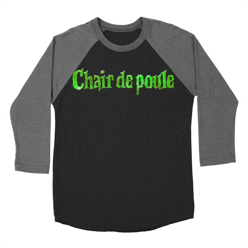 Chair de poule Women's Baseball Triblend Longsleeve T-Shirt by Chaudaille