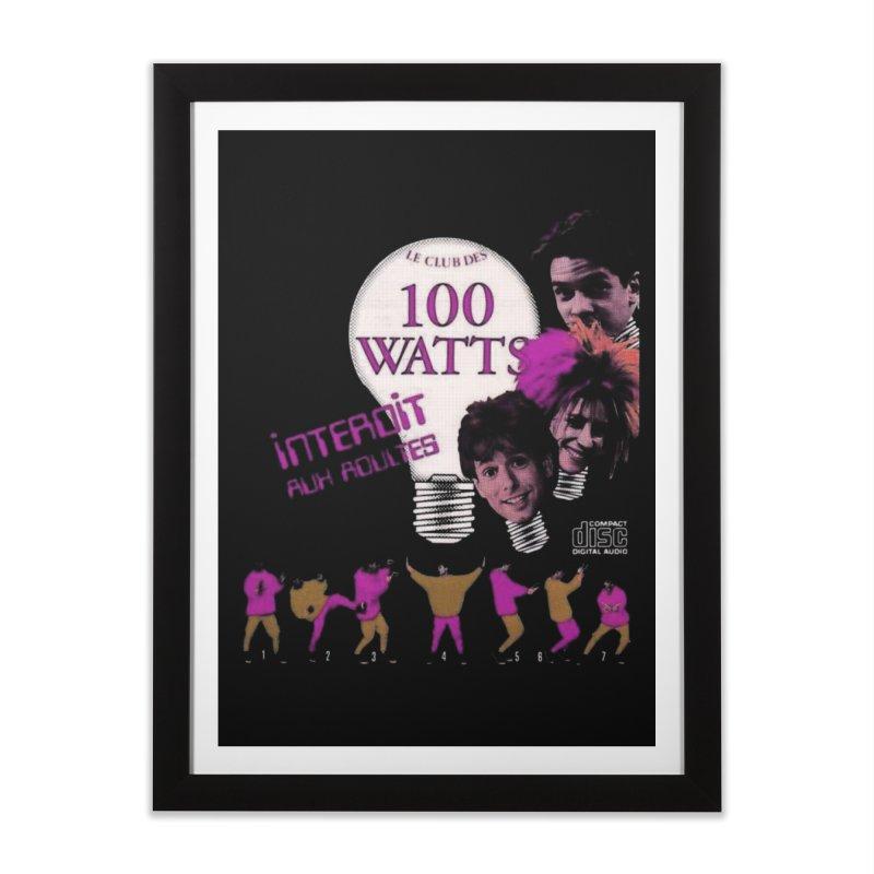 Le Club des 100 Watts in Framed Fine Art Print Black by Chaudaille