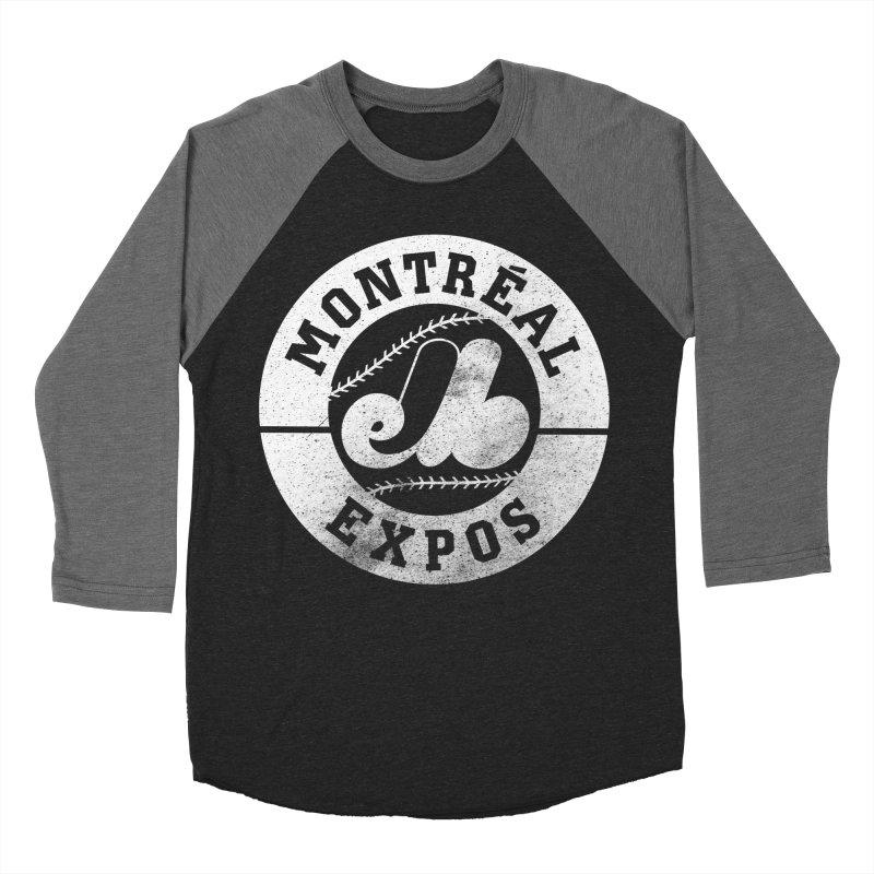 Montréal Expos Women's Baseball Triblend Longsleeve T-Shirt by Chaudaille