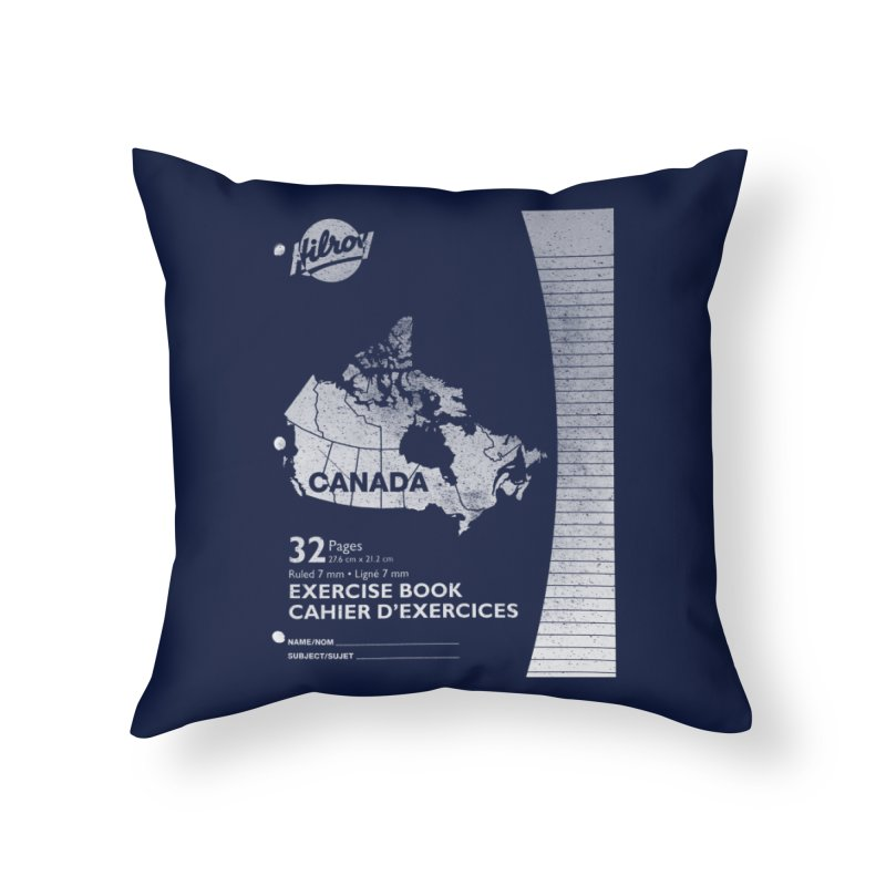 Cahier Canada Hilroy in Throw Pillow by Chaudaille