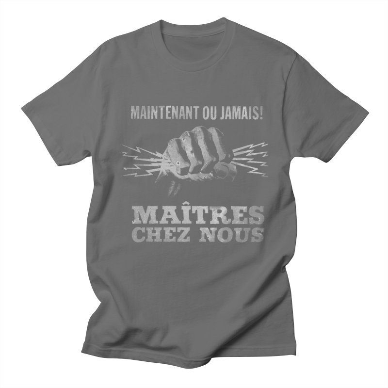 Maîtres Chez Nous in Men's Regular T-Shirt Asphalt by Chaudaille
