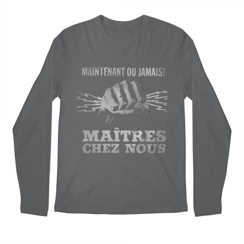 Maîtres Chez Nous Men's Longsleeve T-Shirt by Chaudaille