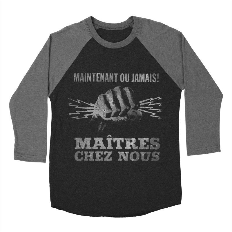 Maîtres Chez Nous Women's Baseball Triblend Longsleeve T-Shirt by Chaudaille