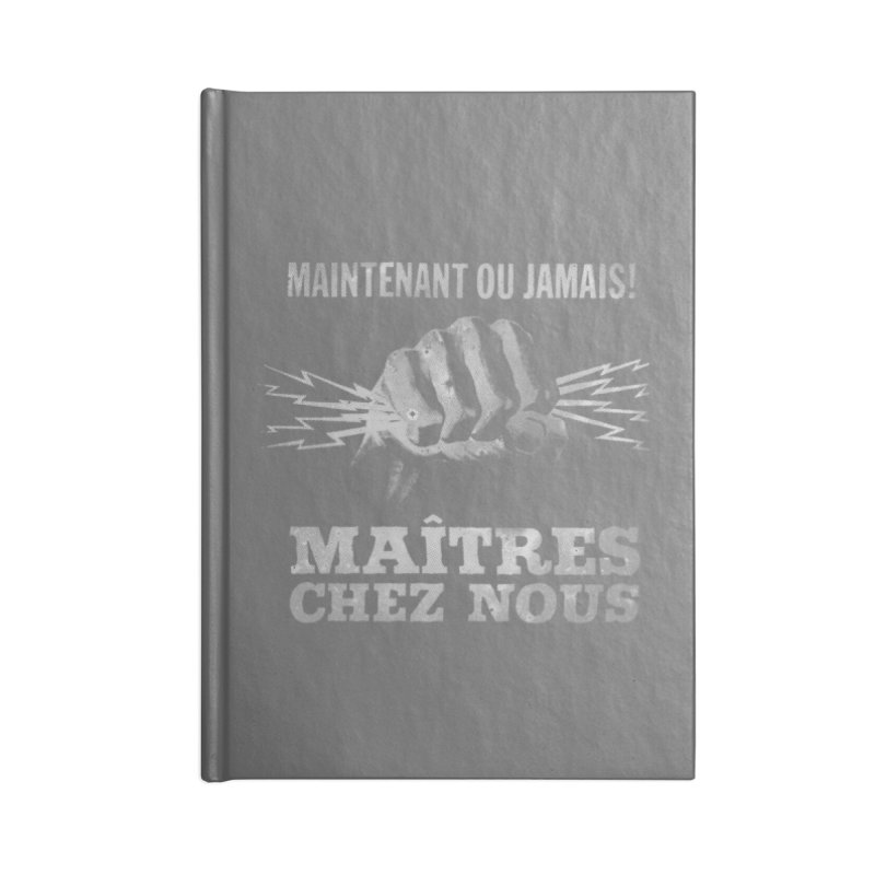 Maîtres Chez Nous Accessories Blank Journal Notebook by Chaudaille