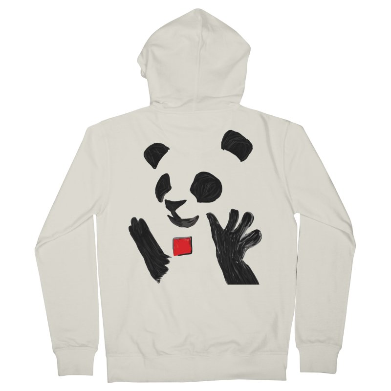Anarcho Panda Men's Zip-Up Hoody by Chaudaille
