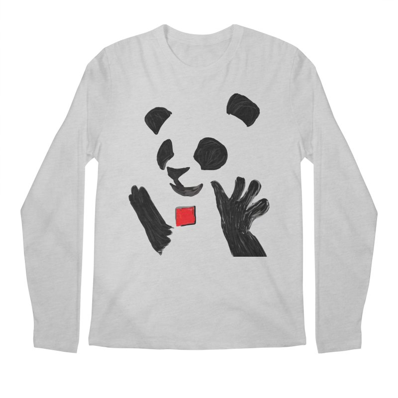 Anarcho Panda Men's Longsleeve T-Shirt by Chaudaille