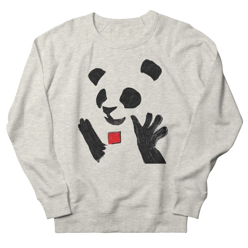 Anarcho Panda in Women's French Terry Sweatshirt Heather Oatmeal by Chaudaille