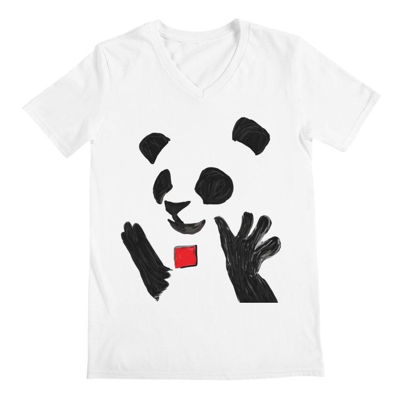 Anarcho Panda Men's V-Neck by Chaudaille