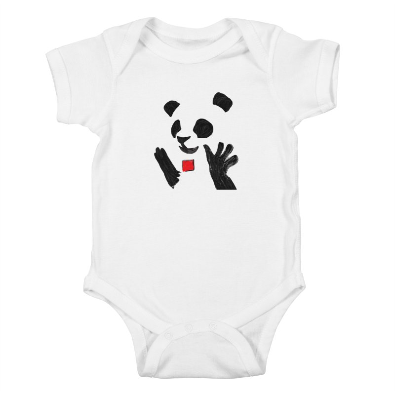 Anarcho Panda Kids Baby Bodysuit by Chaudaille