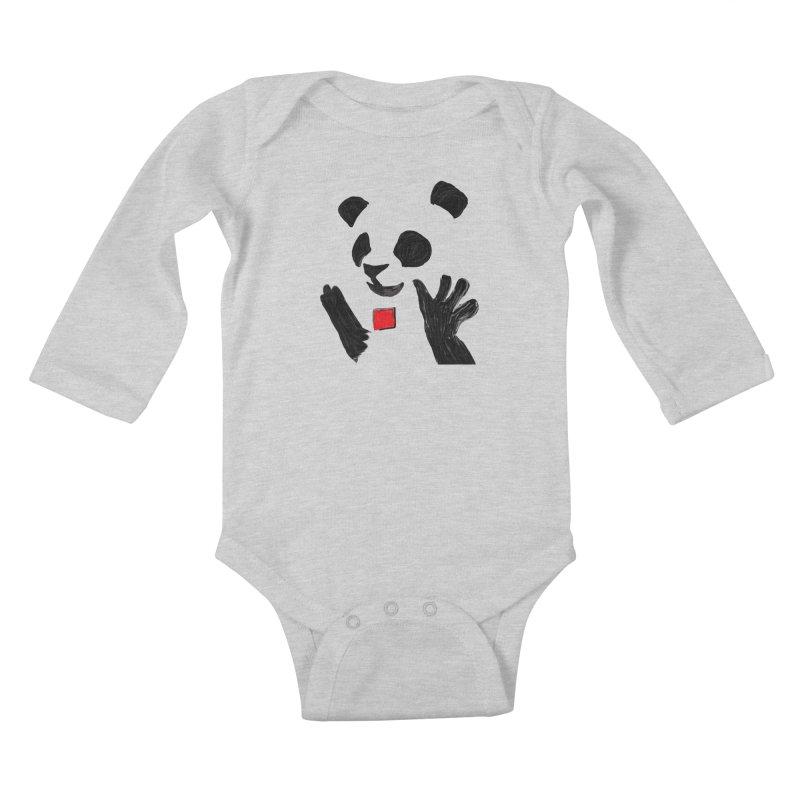 Anarcho Panda Kids Baby Longsleeve Bodysuit by Chaudaille
