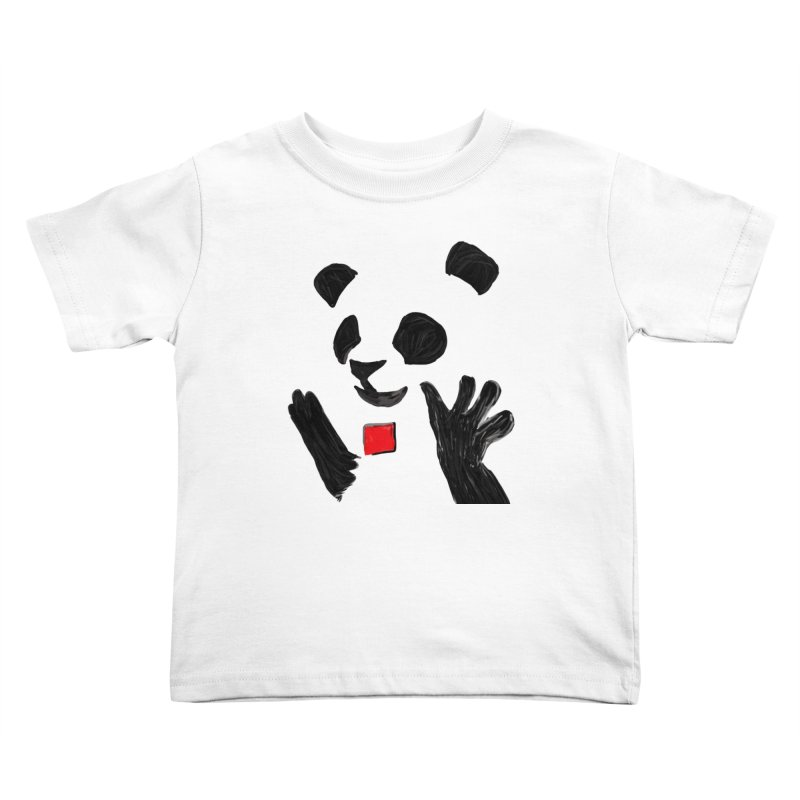 Anarcho Panda Kids Toddler T-Shirt by Chaudaille