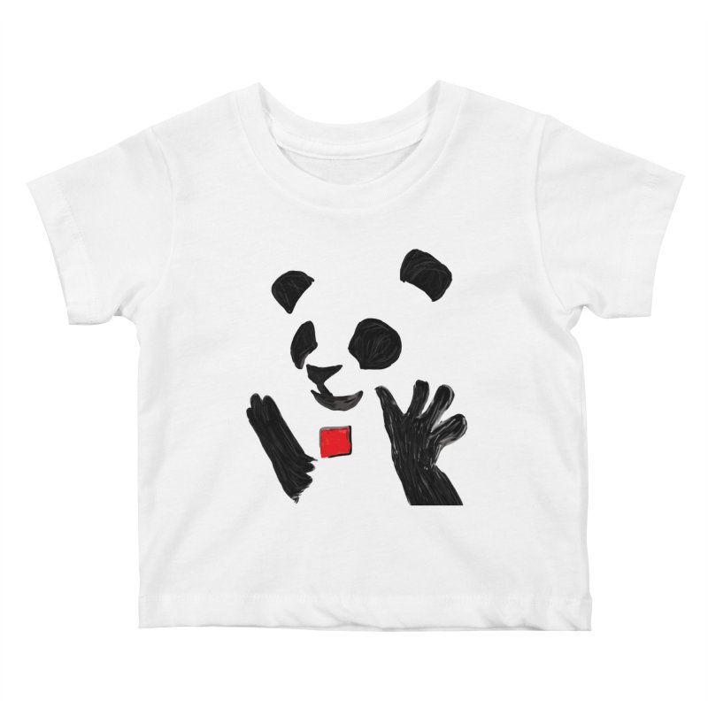 Anarcho Panda Kids Baby T-Shirt by Chaudaille