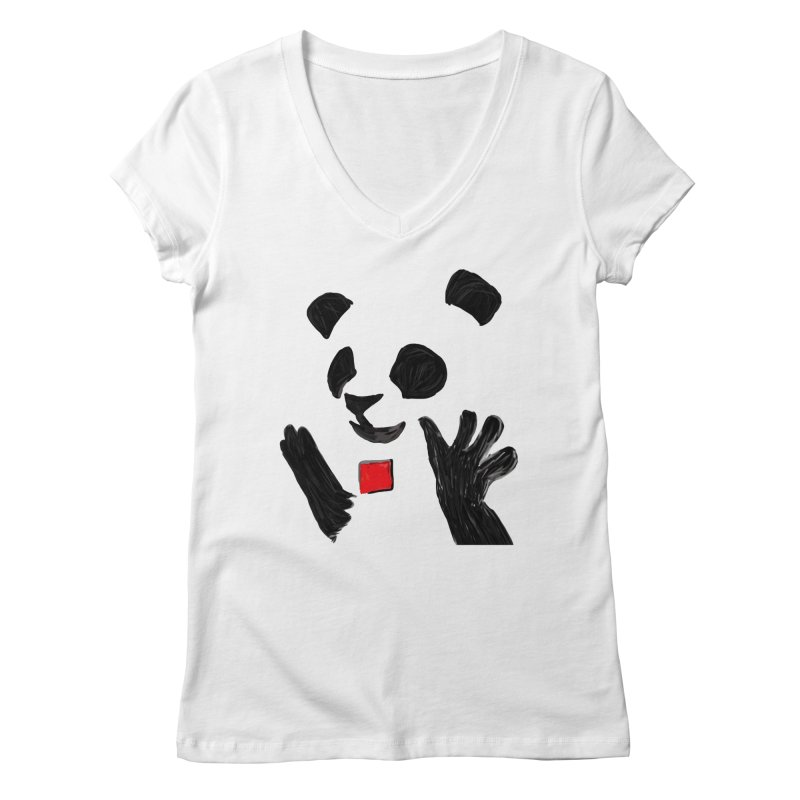 Anarcho Panda Women's V-Neck by Chaudaille