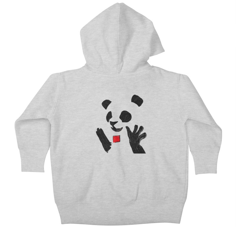 Anarcho Panda Kids Baby Zip-Up Hoody by Chaudaille