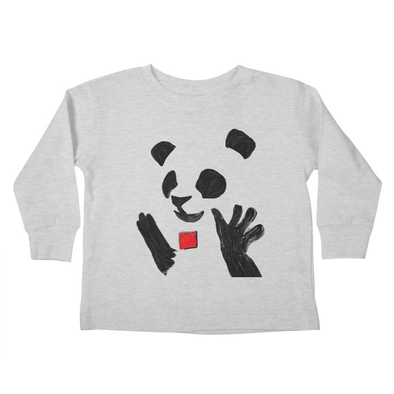 Anarcho Panda Kids Toddler Longsleeve T-Shirt by Chaudaille