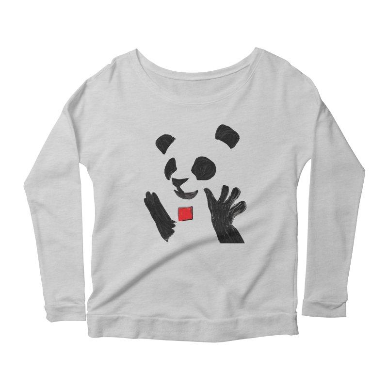 Anarcho Panda Women's Longsleeve T-Shirt by Chaudaille