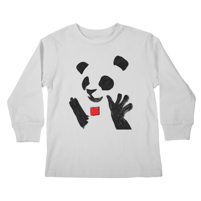 Anarcho Panda Kids Longsleeve T-Shirt by Chaudaille