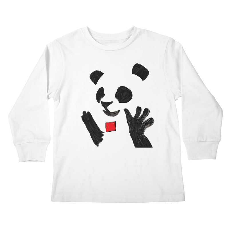 Anarcho Panda Kids Longsleeve T-Shirt by Chaudaille