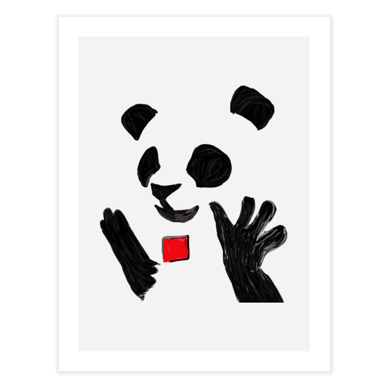 Anarcho Panda Home Fine Art Print by Chaudaille