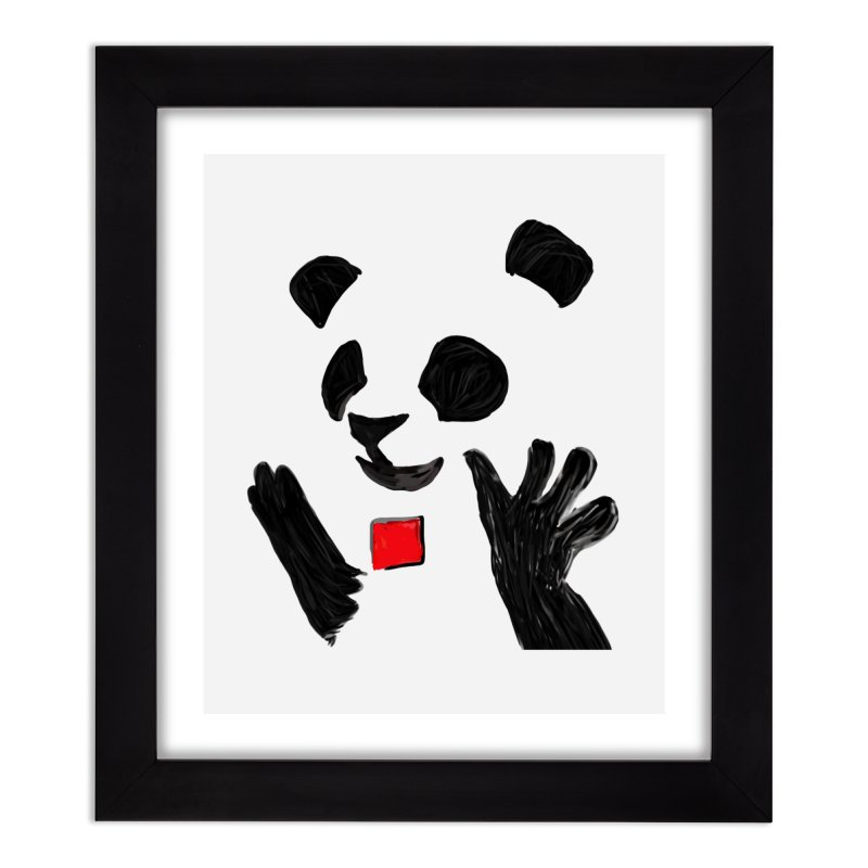 Anarcho Panda Home Framed Fine Art Print by Chaudaille