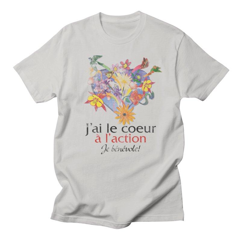 J'ai le coeur à l'action! in Men's Regular T-Shirt Stone by Chaudaille